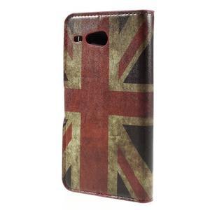 Nice koženkové pouzdro na mobil Acer Liquid Z520 - UK vlajka - 2