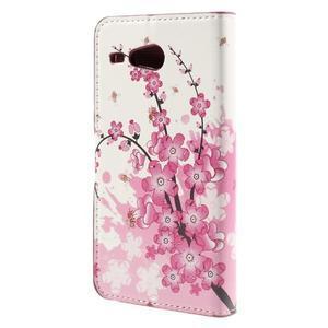 Nice koženkové puzdro pre mobil Acer Liquid Z520 - kvitnúca vetva - 2