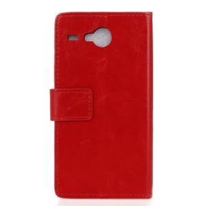 Stanley PU kožené puzdro pre Acer Liquid Z520 - červené - 2