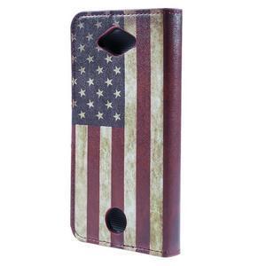 Valet peňaženkové puzdro pre Acer Liquid Z530 - US vlajka - 2