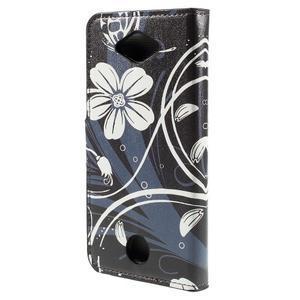 Valet peňaženkové puzdro pre Acer Liquid Z530 - biely kvet - 2