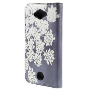 Valet peňaženkové puzdro pre Acer Liquid Z530 - kvitnúce kvetiny - 2