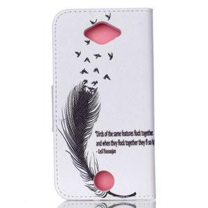 Luxy peňaženkové puzdro pre Acer Liquid Z530 - ptačí pierko - 2