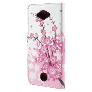 Valet peňaženkové puzdro pre Acer Liquid Z530 - kvitnúca vetvička - 2