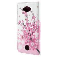 Valet peňaženkové puzdro pre Acer Liquid Z530 - kvitnúca vetvička - 2/6