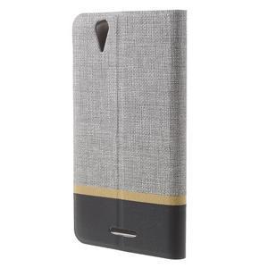 Klopové puzdro pre mobil Acer Liquid Z630 - šedé - 2