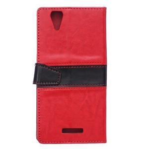 Lines pouzdro na mobil Acer Liquid Z630 - červené - 2