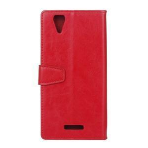 Leat PU kožené pouzdro na mobil Acer Liquid Z630 - červené - 2