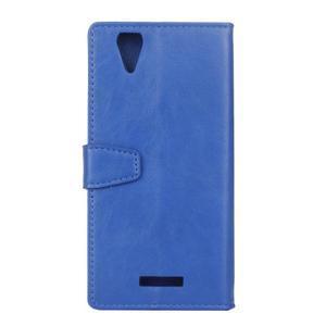 Leat PU kožené puzdro pre mobil Acer Liquid Z630 - modré - 2