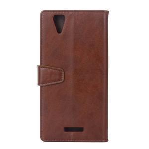 Leat PU kožené puzdro pre mobil Acer Liquid Z630 - hnedé - 2