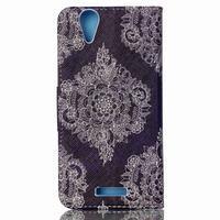 Peněženkové pouzdro na mobil Acer Liquid Z630 - retro květina - 2/6