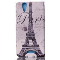 Peňaženkové puzdro pre mobil Acer Liquid Z630 - Eiffelova veža - 2/6