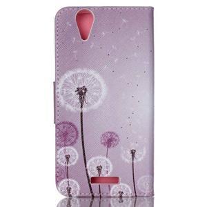 Peňaženkové puzdro pre mobil Acer Liquid Z630 - púpavy - 2