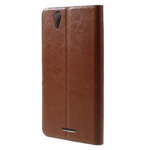Horse peňaženkové puzdro pre Acer Liquid Z630 - hnedé - 2