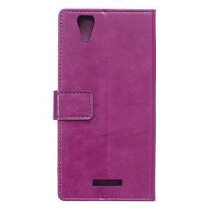 Leat PU kožené puzdro pre mobil Acer Liquid Z630 - fialové - 2