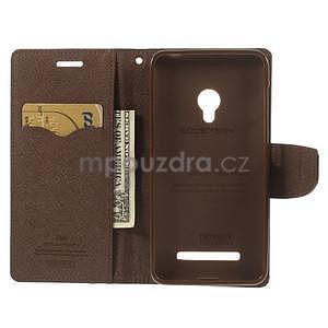 Čierné/hnedé peňaženkové puzdro na Asus Zenfone 5 - 2