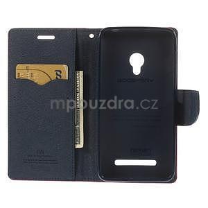 Rose/tmavě modré peňaženkové puzdro na Asus Zenfone 5 - 2