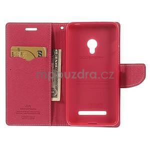 Růžové/rose peňaženkové puzdro na Asus Zenfone 5 - 2