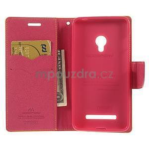 Žluté/rose peňaženkové puzdro na Asus Zenfone 5 - 2