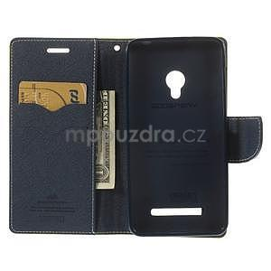 Zelené/tmavě modré peňaženkové puzdro na Asus Zenfone 5 - 2