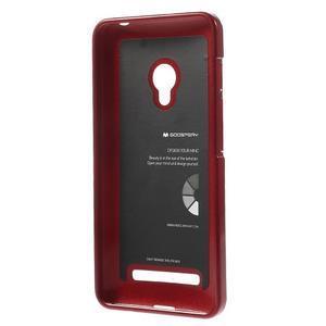 Tmavo červený gélový obal pre Asus Zenfone 5 - 2