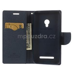 Fialové/tmavě modré peňaženkové puzdro na Asus Zenfone 5 - 2