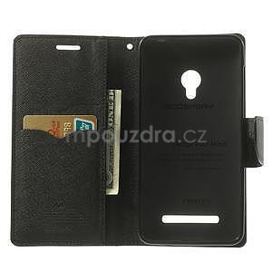 Čierné kožené puzdro Asus Zenfone 5 - 2