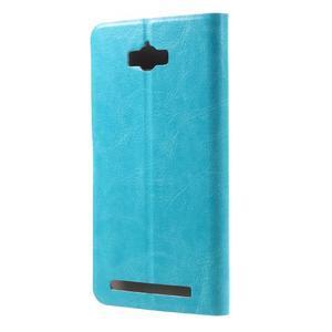Horse peňaženkové puzdro pre Asus Zenfone Max - modré - 2
