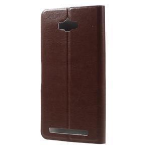 Horse peňaženkové puzdro pre Asus Zenfone Max - hnedé - 2