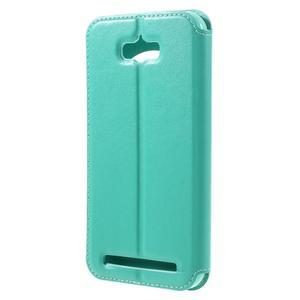 Luxusní puzdro s okienkom pre mobil Asus Zenfone Max - cyan - 2