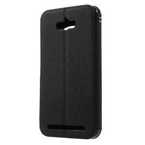 Diary peněženkové pouzdro s okýnkem na Asus Zenfone Max - černé - 2