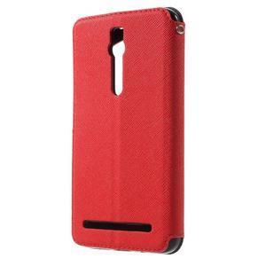 Diary peněženkové pouzdro s okýnkem na Asus Zenfone Max - červené - 2