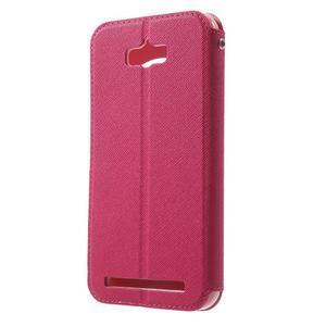 Diary peněženkové pouzdro s okýnkem na Asus Zenfone Max - rose - 2