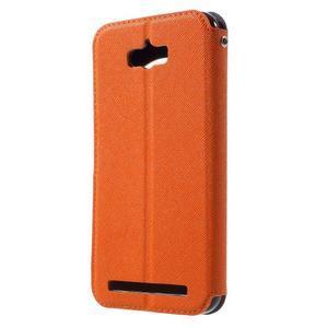 Diary peněženkové pouzdro s okýnkem na Asus Zenfone Max - oranžové - 2