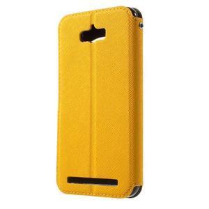 Diary peněženkové pouzdro s okýnkem na Asus Zenfone Max - žluté - 2