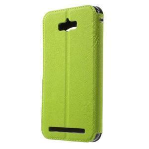 Diary peněženkové pouzdro s okýnkem na Asus Zenfone Max - zelené - 2