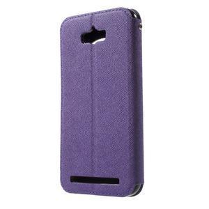 Diary peněženkové pouzdro s okýnkem na Asus Zenfone Max - fialové - 2