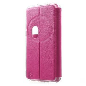 Peněženkové pouzdro s okýnkem na Asus Zenfone Zoom - rose - 2