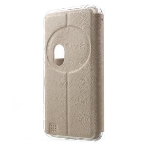 Peňaženkové puzdro s okienkom pre Asus Zenfone Zoom - zlaté - 2