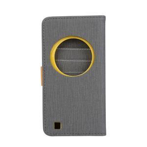 PU kožené puzdro pre Asus Zenfone Zoom - šedé - 2