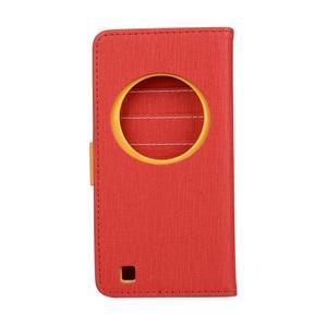 PU kožené puzdro pre Asus Zenfone Zoom - červené - 2