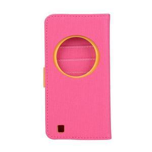 PU kožené pouzdro na Asus Zenfone Zoom - rose - 2