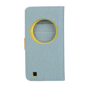 PU kožené puzdro pre Asus Zenfone Zoom - svetlomodré - 2