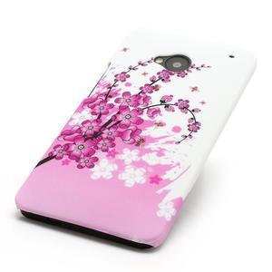 Plastový kryt pre HTC One M7 - kvitnúca vetva - 2