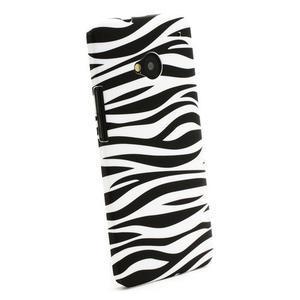 Plastový kryt pre HTC One M7 - zebra - 2