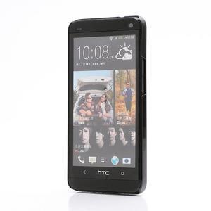 Broušený hliníkový plastový kryt na HTC One M7 - strieborný - 2