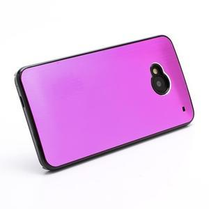 Broušený hliníkový plastový kryt na HTC One M7 - rose - 2