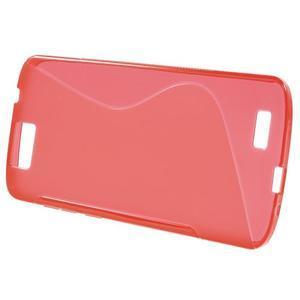 Gélový kryt S-line Huawei Ascend G7 - červený - 2