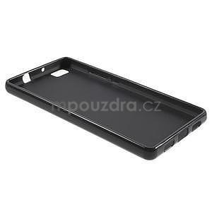 Lesklý gelový obal na Huawei P8 Lite - černý - 2