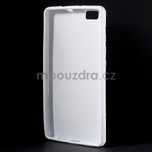 Bílý S-line gelový obal na Huawei Ascend P8 Lite - 2